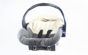 An isolated infant carrier and car seat