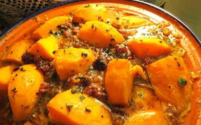 Chicken tagine with sweet potato and carrots